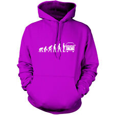 Evolution of Man Bay window Camper owner Unisex Hoodie - Hooded top / VW / S-XXL