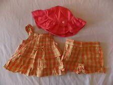 NWT Girl's Gymboree Aloha Sunshine tank top shirt shorts hat ~ 12-18 months 2T