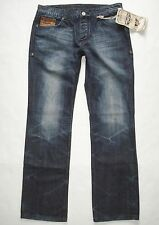 New! ANTIK DENIM Gallery Flap Pkt Buttonfly ALAMEDA Dark Wash Men Boot Leg Jeans