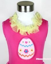 Hot Pink Pettitop Tank Top Shirt SWEET EASTER EGG Yellow Lacing For Skirt NB-8Y