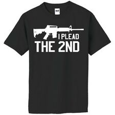 I Plead The 2nd T Shirt: Small - 4X Amendment AR-15 Rifle Rights Hunt Pro Gun
