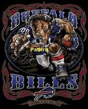 Buffalo Bills Mascots, Helmets etc. Cross Stitch Pattern. Paper version or PDF