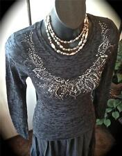 Burnout Embellished Tee Clearance Sale Choose Color & Size Casual Friday