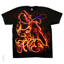 New JIMI HENDRIX On Fire T Shirt