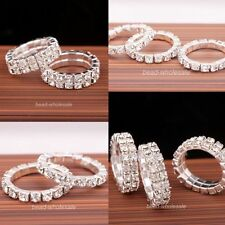 Two Style Fashion Jewelry Silver Plated Crystal Rhinestone Ring Party Ring