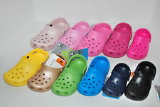 NWT CROCS CAYMAN CLASSIC KID 6/7 8/9 10/11 12/13 1 2 PINK BLUE LIME BLACK CLOGS