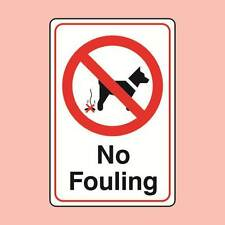 Warning Signs 150x200mm No Fouling Dog Fouling Sign (0794)