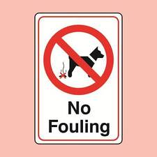 Warning Signs 200x300mm No Fouling Dog Fouling Sign (07354)