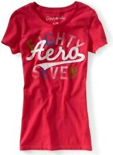 Pink Aeropostale Womens Aero Eighty Seven Scripted Patch Graphic Tee Shirt Sz XL