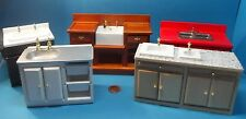 dolls house miniature 1:12 scale   kitchen sinks colour,size, diff. 5 to pick
