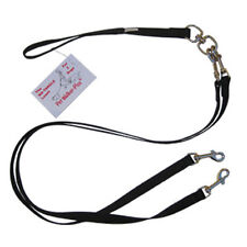 """Pet Walker Plus No Tangle 2-dog Double leash 3/4"""" width for dogs up to 59 lbs"""