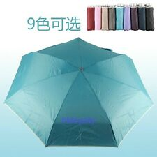 HIGH QUALITY UV COATING LIGHT WEIGHT CONVINENT 5-FOLD UMBRELLA W/ BAG