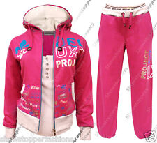 Age 7 8 9 10 11 12 13 GIRLS TRACKSUIT Girls Hoodie POCKET SUIT CLOTHING Joggers
