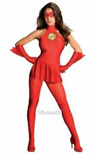 Adult Licensed Sexy Superhero Flash Ladies Fancy Dress Hen Party Costume Outfit
