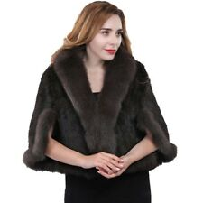 Free shipping /real mink fur fashion cape with sleeves / shawl/ cap(brown)black
