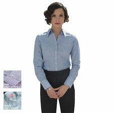New BROOK TAVERNER Womens Ladies Perano Long Sleeve Stripe Blouse Shirt 3 Colour