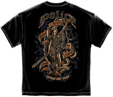 Police Officer Tshirt Protect And Serve Justice Law Enforcement PD Badge Cop K-9