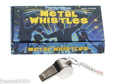 METAL WHISTLE  FOOTBALL RUGBY SCHOOL REFEREE REF DOG TRAINING REFEREE'S SPORT
