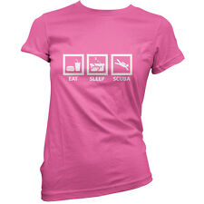 Eat Sleep Scuba Diving - Womens / Ladies T-Shirt -11 Colours- Free UK delivery!