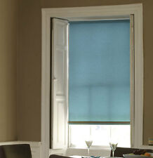 ROLLER BLINDS MADE TO MEASURE BLUES AND GREY TOP QUALITY  CHEAPEST ON EBAY