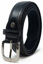 NEW MENS BLACK OR BROWN LEATHER LINED BELT WEDDING SUIT TROUSER CASUAL JEANS NWT