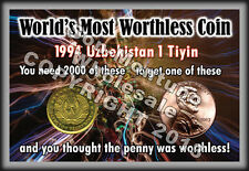 "WHOLESALE ""WORLD'S MOST WORTHLESS COIN"" Display with 2012 Canada Penny / US Cent"