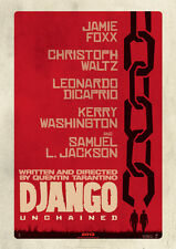 Brand New Movie Poster Print - Django Unchained A3 / A4