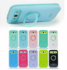 Iglow Dual Color Hybrid Back Case Cover Stand for Samsung Galaxy S3 SIII I9300