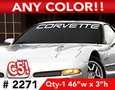 "C5 CORVETTE WORD WINDSHIELD DECAL STICKER 46""w x3""h Any 1 Color"