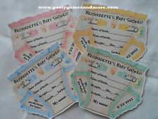 UNIQUE DIAPER SHAPED PERSONALIZED BABY SHOWER PARTY FAVOR PREDICTION CARD GAME