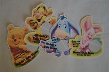 PERSONALIZED WINNIE THE POOH TIGGER EYORE BABY SHOWER SCRATCH OFF LOTTO GAME