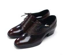 (STORE IN KOREA) MEN'S side lace up REAL LEATHER Shoes DRESS (m96)