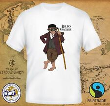 BIBLO SWAGGINS T-shirt! Hobbit Lord of the Rings funny parody witty quirky tees