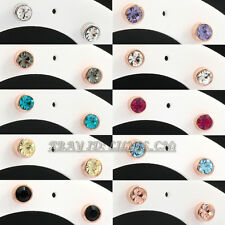 Fashion Rhinestone 4mm Solitaire Stud Earrings 18KGP Crystal