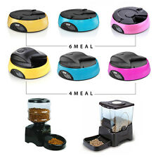 4/6/Large Programmable Timer Automatic Pet Dog Cat Feeder / Water Tray / Bowls