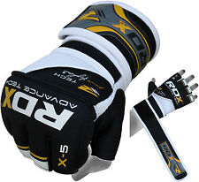 Auth RDX Gel MMA Grappling Gloves Boxing Hand Wraps Punch Bag Fight Muay Thai CA