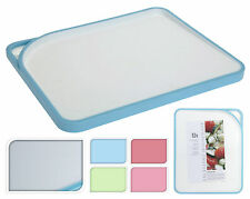 Anti Slip Large 34cm Sloping Chopping Board Coloured Edging Choice of 4 Colours