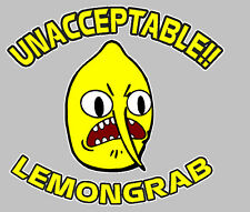 Adventure Time Lemongrab Unacceptable Custom Sticker Decal for Cars & Laptops
