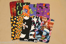 Halloween Fall Harvest Thanksgiving turkey fabric PURSE TISSUE COVER HOLDER bats