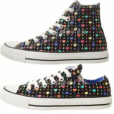 Converse Chuck Taylor All Star Colorful Hearts Womens Shoes Hi / Low Select 1