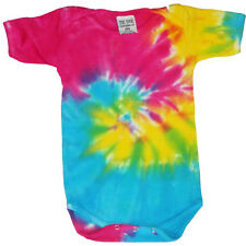 Tie Dye infant baby t-shirt tee shirt one piece romper snap suit 6 12 18 months
