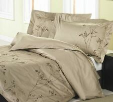 NEW LUXURY  camel/chocolate branches 3pcs DUVET COVER SET QUEEN and KING