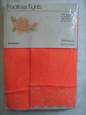 Brand New Footless Lace Tights Orange, Red and Pink-One Size Fits All 90-160 LBS