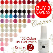 84 Colors Hot Sale Soak Off UV Gel Polish Long-lasting Cristina 15ml Nail Polish