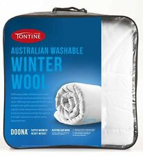 Tontine Australian Wool Quilt 500gsm Washable Winter Single/Double/Queen/King