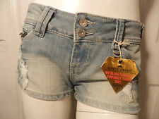 ALMOST FAMOUS WE BLING THE UP-YOU ROCK THEM OUT DISTRESSED FADED SHORTS