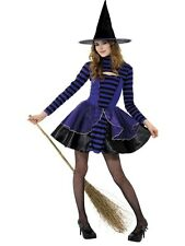 SALE! Teen Dark Fairy Witch Girls Halloween Party Fancy Dress Costume Outfit