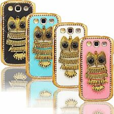 Hot New Bling Owl Case for Samsung Galaxy S3 i9300 Rhinestones Hard Cover