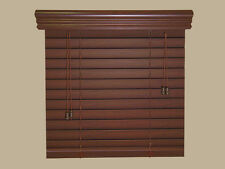 """2""""  Faux Wood  Blinds - Size - 32"""" x 96"""" - Stain Colors - Real Grain Look"""