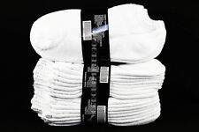 9-11, 10-13 Heavy Athletic No Show Low Cut Ankle Cotton White Socks Mens Womens